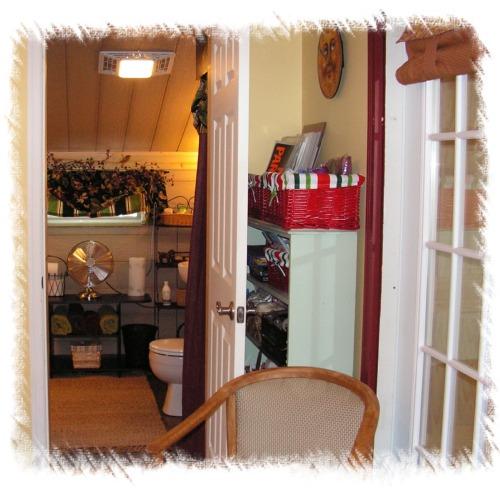 Fantastic Mirror Bathroom Adjoining with Dressing Table Plan
