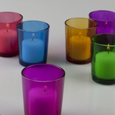 536a8b5eaa Solid Color Glass Tealight Candle Holder | Khimaira Farm